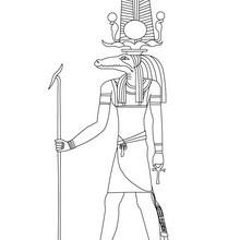 Deidad del Antiguo Egipto SOBEK para pintar online - Dibujos para Colorear y Pintar - Dibujos para colorear los PAISES - EGIPTO para colorear - DIOSES EGIPCIOS para colorear