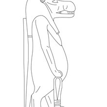 Dibujo para colorear : deidad TAWERET  Antiguo Egipto