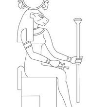 Dibujo para colorear : la diosa TEFNUT  Egipto