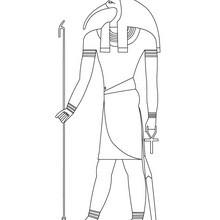 Dibujo para colorear : TOTH dios egipcio