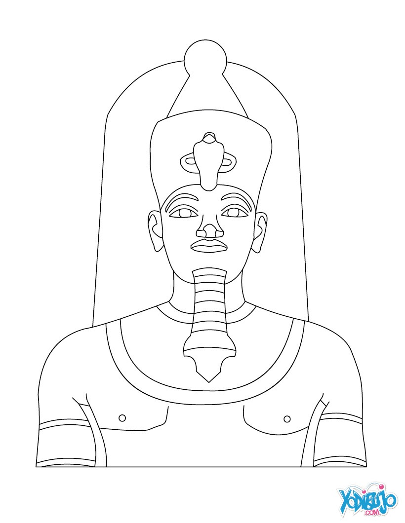 pharaoh khufu coloring pages - photo#10