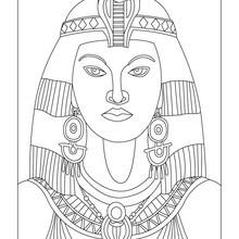 CLEOPATRA reina de Egipto para colorear e imprimir - Dibujos para Colorear y Pintar - Dibujos para colorear los PAISES - EGIPTO para colorear - Dibujos de los FARAONES DEL ANTIGUO EGIPTO para pintar