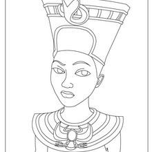 HATCHEPSUT reina faraón del Antiguo Egipto para pintar en línea - Dibujos para Colorear y Pintar - Dibujos para colorear los PAISES - EGIPTO para colorear - Dibujos de los FARAONES DEL ANTIGUO EGIPTO para pintar