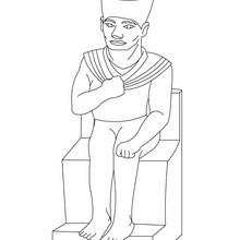 Dibujo del faraón KHUFU para colorear Antiguo Egipto - Dibujos para Colorear y Pintar - Dibujos para colorear los PAISES - EGIPTO para colorear - Dibujos de los FARAONES DEL ANTIGUO EGIPTO para pintar