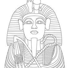 Faraón TUTANKAMÓN de Egipto para colorear y pintar - Dibujos para Colorear y Pintar - Dibujos para colorear los PAISES - EGIPTO para colorear - Dibujos de los FARAONES DEL ANTIGUO EGIPTO para pintar