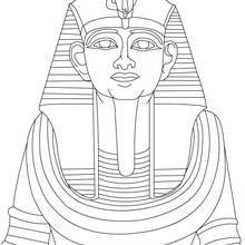 Estatua de RAMSES 2 para colorear - Dibujos para Colorear y Pintar - Dibujos para colorear los PAISES - EGIPTO para colorear - Dibujos de los FARAONES DEL ANTIGUO EGIPTO para pintar