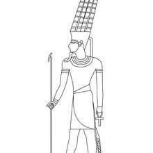 Dibujo de FARAON para colorear gratis - Dibujos para Colorear y Pintar - Dibujos para colorear los PAISES - EGIPTO para colorear - Dibujos de los FARAONES DEL ANTIGUO EGIPTO para pintar