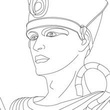 Faraón RAMSES II para colorear Egipto Antiguo - Dibujos para Colorear y Pintar - Dibujos para colorear los PAISES - EGIPTO para colorear - Dibujos de los FARAONES DEL ANTIGUO EGIPTO para pintar