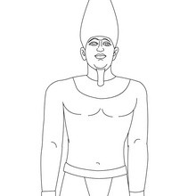 Dibujo del Faraón SNEFERU para colorear gratis - Dibujos para Colorear y Pintar - Dibujos para colorear los PAISES - EGIPTO para colorear - Dibujos de los FARAONES DEL ANTIGUO EGIPTO para pintar