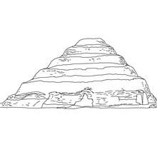 PIRÁMIDE ESCALONADA DE ZOSER para colorear Egipto - Dibujos para Colorear y Pintar - Dibujos para colorear los PAISES - EGIPTO para colorear - PIRAMIDES DE EGIPTO para colorear