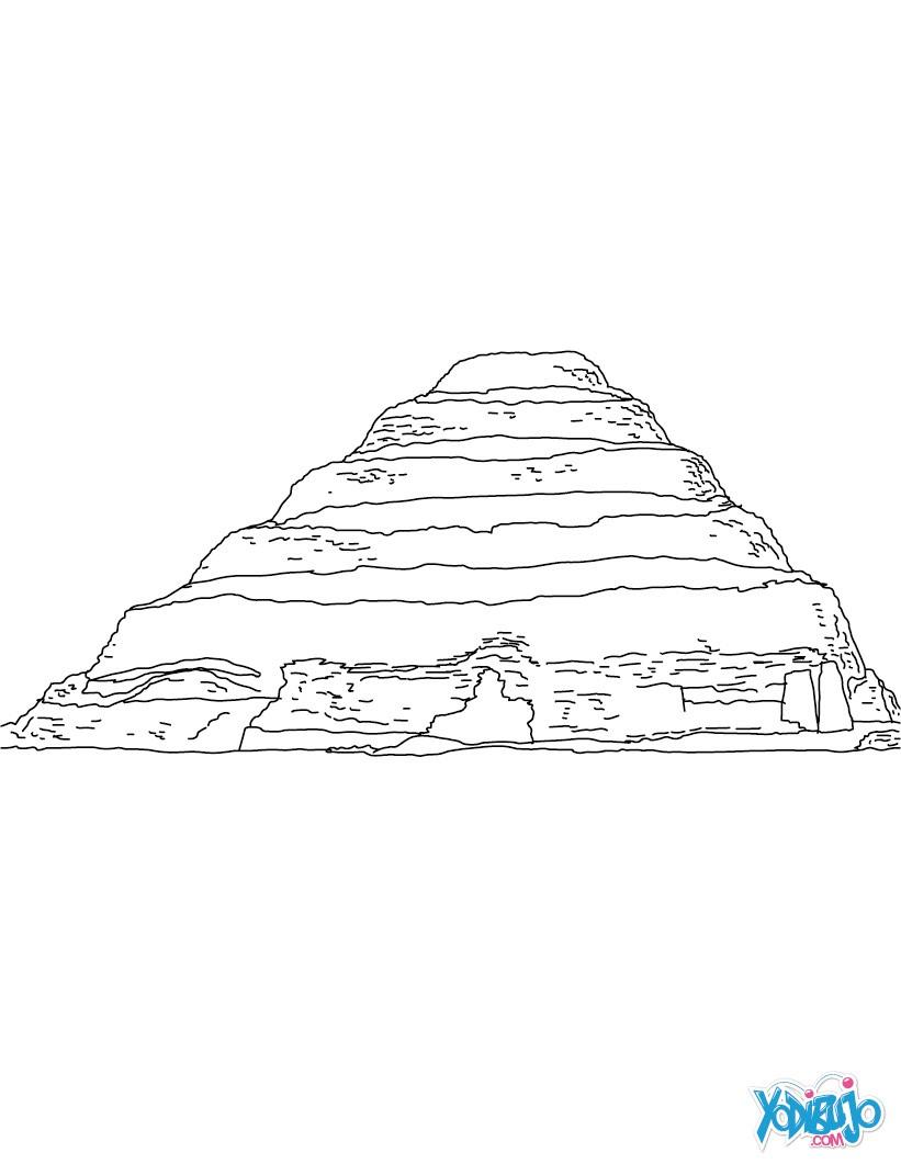 Dibujos para colorear pirmide escalonada de zoser egipto  es