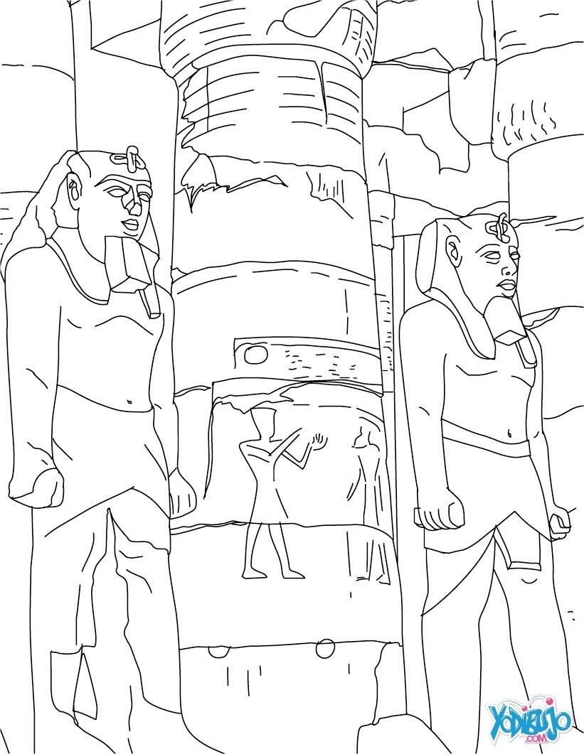 Dibujos para colorear templo de luxor egipto - es ...