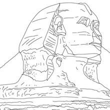 GRANDE ESFINGE DE GIZEH para colorear y pintar gratis - Dibujos para Colorear y Pintar - Dibujos para colorear los PAISES - EGIPTO para colorear - PIRAMIDES DE EGIPTO para colorear