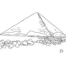Dibujo de la PIRÁMIDE ROJA para colorear Egipto - Dibujos para Colorear y Pintar - Dibujos para colorear los PAISES - EGIPTO para colorear - PIRAMIDES DE EGIPTO para colorear
