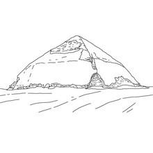 PIRÁMIDE DE BENT para colorear Egipto - Dibujos para Colorear y Pintar - Dibujos para colorear los PAISES - EGIPTO para colorear - PIRAMIDES DE EGIPTO para colorear