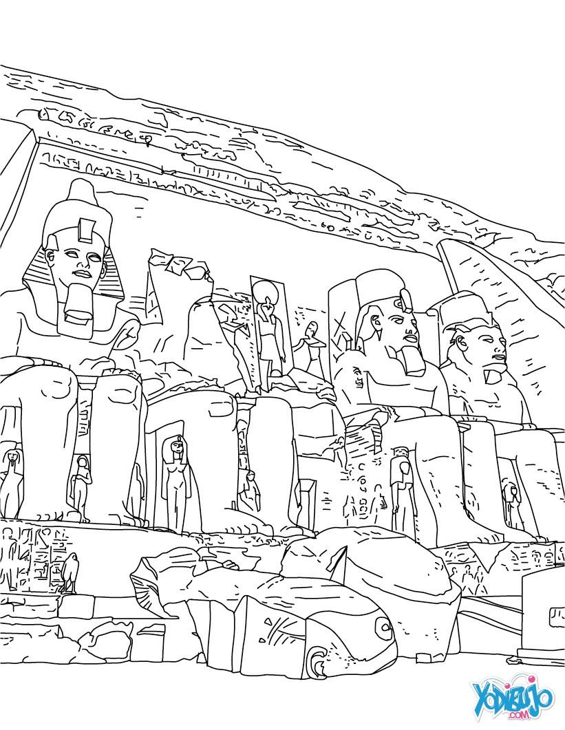 Dibujos para colorear arte egipcio en papiro - es.hellokids.com