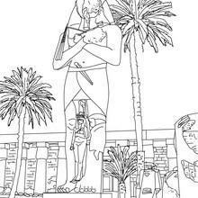 ESTATUA DE PINEDYEM EN KARNAK para colorear Egipto - Dibujos para Colorear y Pintar - Dibujos para colorear los PAISES - EGIPTO para colorear - PIRAMIDES DE EGIPTO para colorear