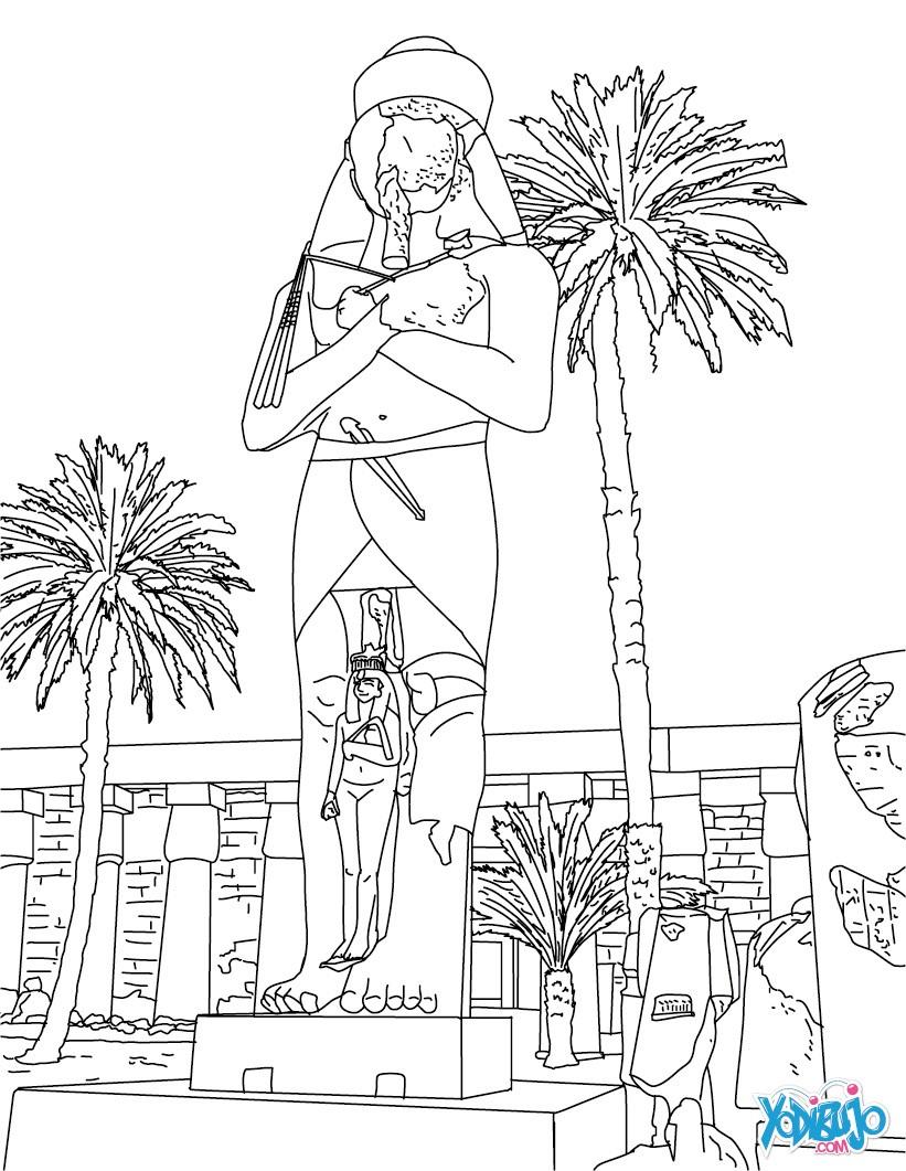 Dibujos para colorear estatua de pinedyem en karnak egipto ...