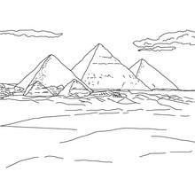 PIRÁMIDES DE GIZA para colorear y pintar Egipto - Dibujos para Colorear y Pintar - Dibujos para colorear los PAISES - EGIPTO para colorear - PIRAMIDES DE EGIPTO para colorear