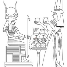 ARTE DEL ANTIGUO EGIPTO para colorear gratis - Dibujos para Colorear y Pintar - Dibujos para colorear los PAISES - EGIPTO para colorear - Dibujos del ARTE del ANTIGUO EGIPTO para colorear