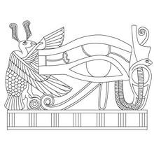 Papiro del GRANDE OJO DE HORUS para colorear e imprimir - Dibujos para Colorear y Pintar - Dibujos para colorear los PAISES - EGIPTO para colorear - Dibujos del ARTE del ANTIGUO EGIPTO para colorear