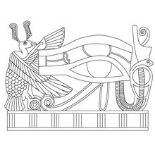 Dibujo para colorear : Papiro del GRANDE OJO DE HORUS