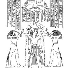 Dibujo para colorear : PAPIRO EGIPCIO