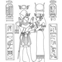 ARTE EGIPCIO en papiro para colorear - Dibujos para Colorear y Pintar - Dibujos para colorear los PAISES - EGIPTO para colorear - Dibujos del ARTE del ANTIGUO EGIPTO para colorear