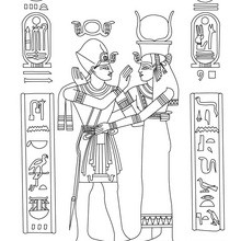 Dibujo para colorear : ARTE EGIPCIO en papiro