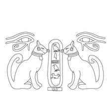 PAPIRO DEL ANTIGUO EGIPTO para colorear - Dibujos para Colorear y Pintar - Dibujos para colorear los PAISES - EGIPTO para colorear - Dibujos del ARTE del ANTIGUO EGIPTO para colorear
