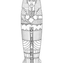 SARCOFAGO egipcio para colorear en línea - Dibujos para Colorear y Pintar - Dibujos para colorear los PAISES - EGIPTO para colorear - Dibujos del ARTE del ANTIGUO EGIPTO para colorear