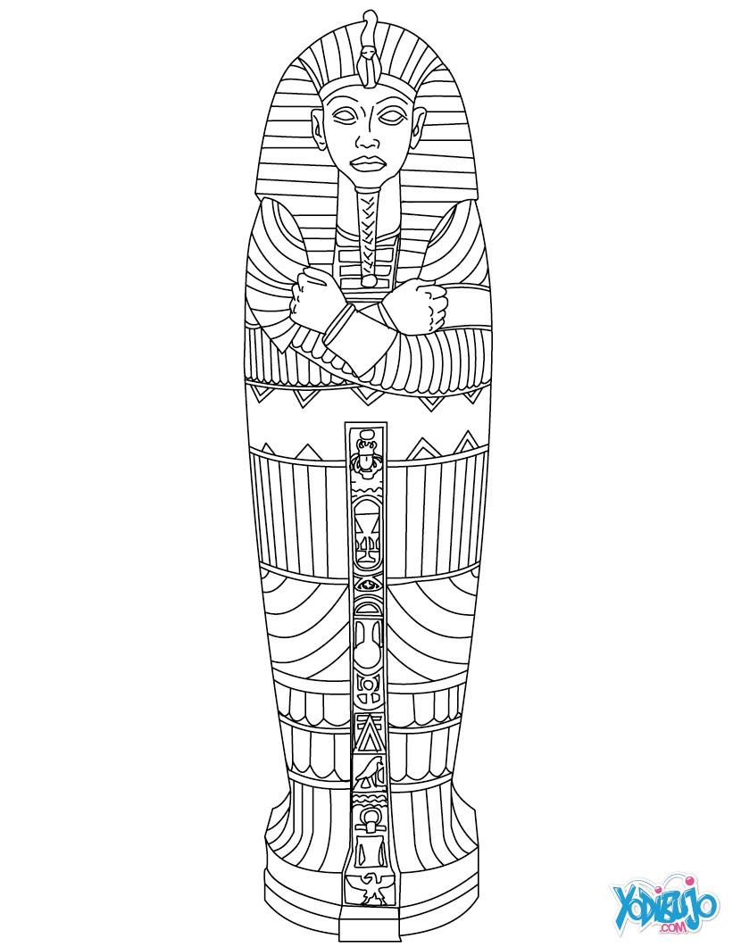 Dibujos para colorear sarcofago egipcio - es.hellokids.com
