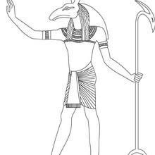Dios SETH de Antiguo Egipto para colorear online - Dibujos para Colorear y Pintar - Dibujos para colorear los PAISES - EGIPTO para colorear - DIOSES EGIPCIOS para colorear
