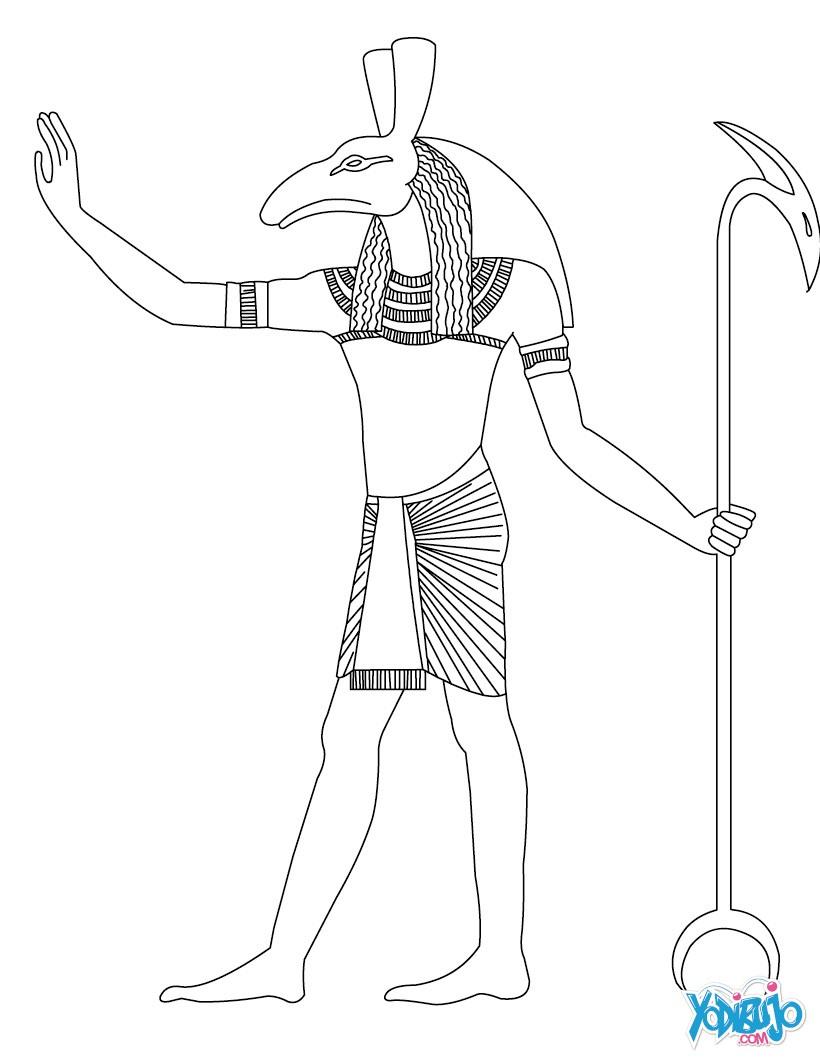Dibujos para colorear dios seth de antiguo egipto  eshellokidscom