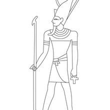 Dibujo de FARAON DE EGIPTO para pintar y colorear - Dibujos para Colorear y Pintar - Dibujos para colorear los PAISES - EGIPTO para colorear - Dibujos de los FARAONES DEL ANTIGUO EGIPTO para pintar