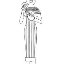 Diosa egipicia BASTET, deidad gata para colorear Egipto - Dibujos para Colorear y Pintar - Dibujos para colorear los PAISES - EGIPTO para colorear - DIOSES EGIPCIOS para colorear