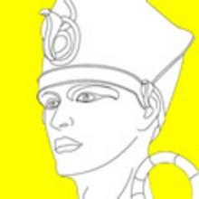Dibujos de los FARAONES DEL ANTIGUO EGIPTO para pintar - Dibujos para colorear los PAISES - Dibujos para Colorear y Pintar