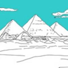 PIRAMIDES DE EGIPTO para colorear - Dibujos para colorear los PAISES - Dibujos para Colorear y Pintar