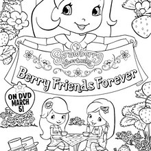 Dibujo para colorear : BERRY FRIENDS FOREVER