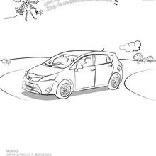 Dibujo para colorear : el coche TOYOTA VERSO