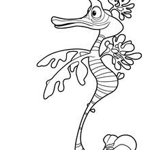 Dibujo de REMO el hipocampo para colorear - Dibujos para Colorear y Pintar - Dibujos para colorear PERSONAJES - PERSONAJES ANIME para colorear - Dibujos BARBIE para colorear - Dibujos de BARBIE Una aventura de Sirenas para colorear