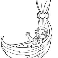 Dibujo de MERLIAH beba para pintar - Dibujos para Colorear y Pintar - Dibujos para colorear PERSONAJES - PERSONAJES ANIME para colorear - Dibujos BARBIE para colorear - Dibujos de BARBIE Una aventura de Sirenas para colorear