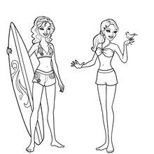 Dibujo de MERLIAH y HADLEY para colorear - Dibujos para Colorear y Pintar - Dibujos para colorear PERSONAJES - PERSONAJES ANIME para colorear - Dibujos BARBIE para colorear - Dibujos de BARBIE Una aventura de Sirenas para colorear