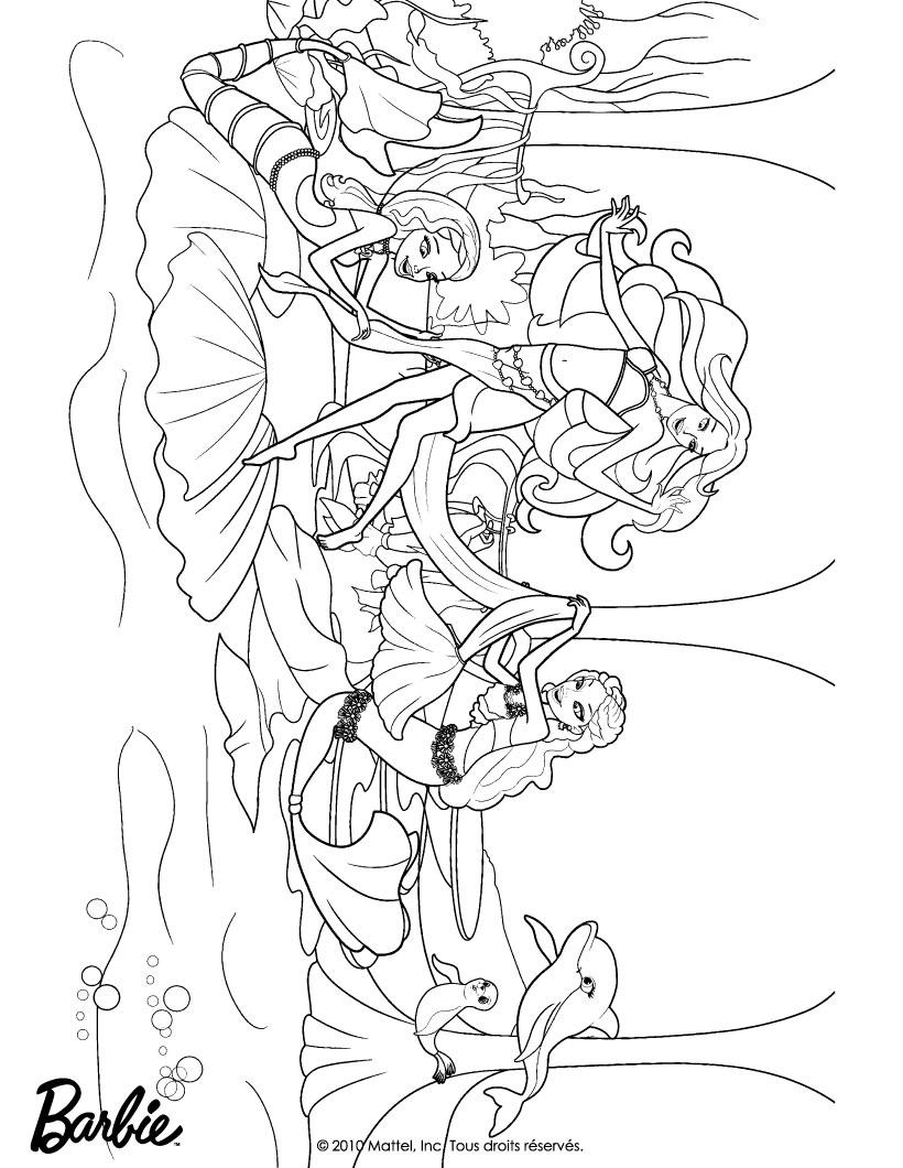 Dibujos Barbie Sirena Para Colorear Online ~ Ideas Creativas Sobre ...