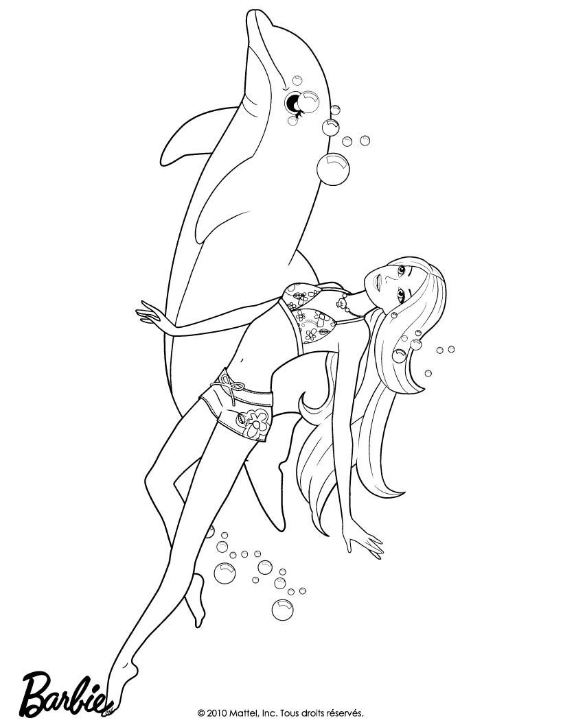 Dibujos de BARBIE Una aventura de Sirenas para colorear ...