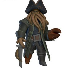 Figurina de DAVY JONES de Piratas del Caríbe