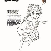 Dibujo de UGGA la primera mamá moderna para colorear - Dibujos para Colorear y Pintar - Dibujos de PELICULAS colorear - Dibujos de LOS CROODS para colorear