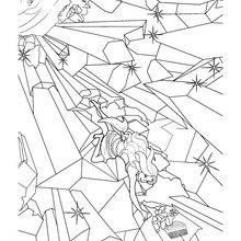 Dibujo de MERLIAH saliendo del mar para colorear gratis - Dibujos para Colorear y Pintar - Dibujos para colorear PERSONAJES - PERSONAJES ANIME para colorear - Dibujos BARBIE para colorear - Dibujos de BARBIE Una aventura de Sirenas para colorear