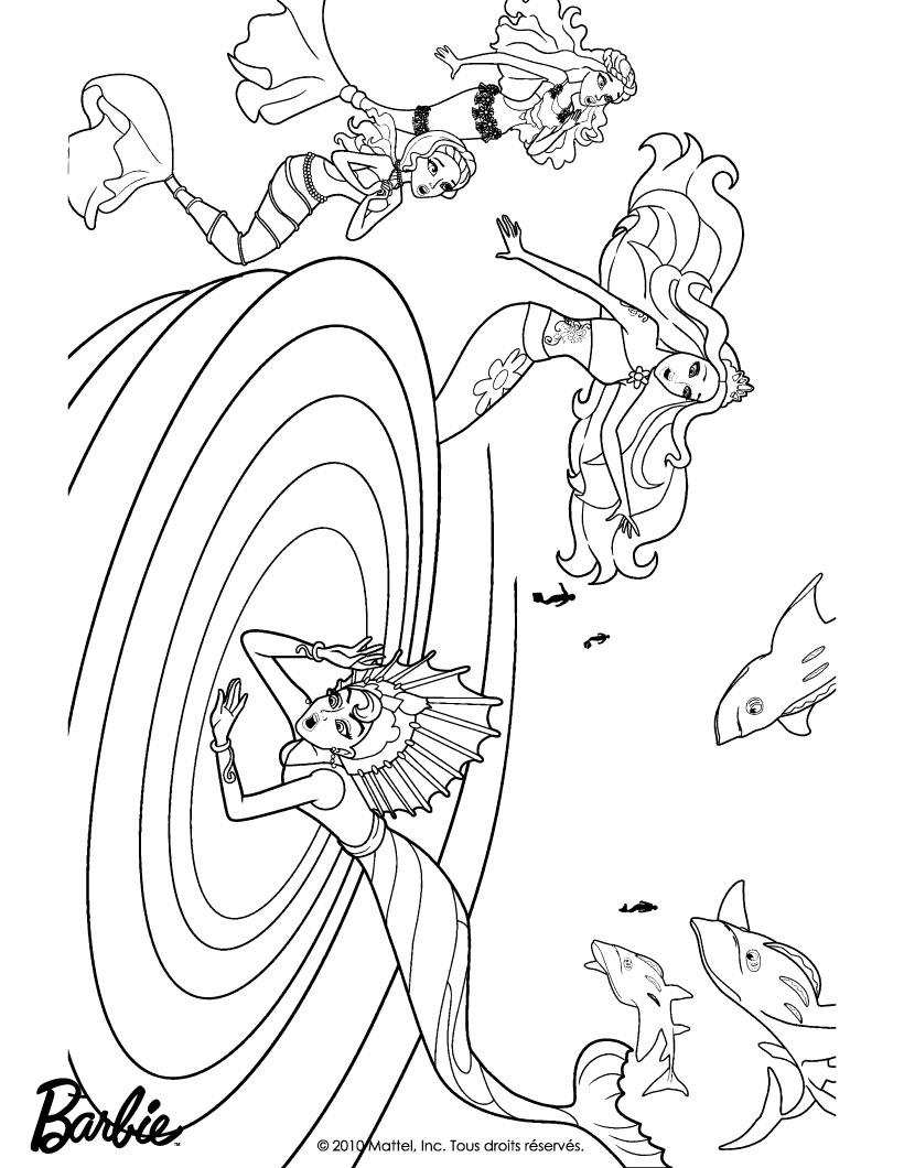 Sirenas barbies para pintar - Imagui