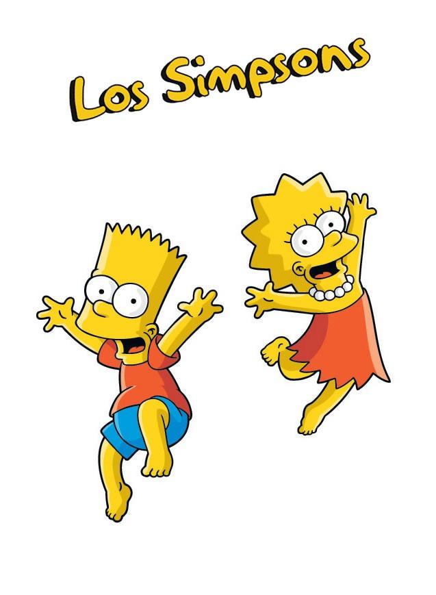 Dibujo de BART y LISA SIMPSON